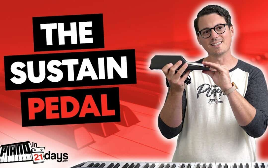Simple 4-Step Process for the SUSTAIN PEDAL on the Piano or Keyboard